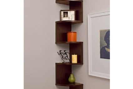 Unique Shelves Change the Mood of a Room