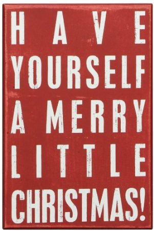 Box Sign - Merry Little Christmas