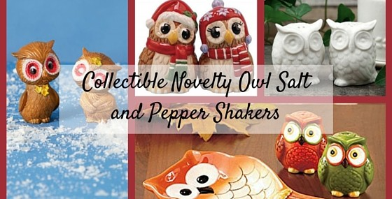 Collectible Novelty Owl Salt and Pepper Shakers
