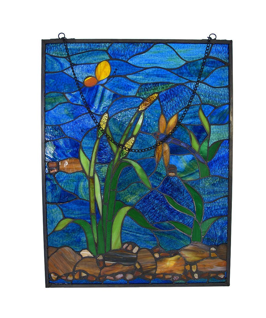 Dragonfly Window Pane Stained Glass