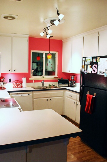 Hot Pink Backsplash