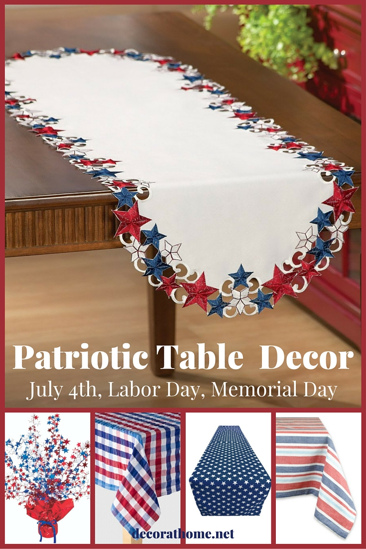 Patriotic Table Decor for July 4th-Labor Day- Memorial Day
