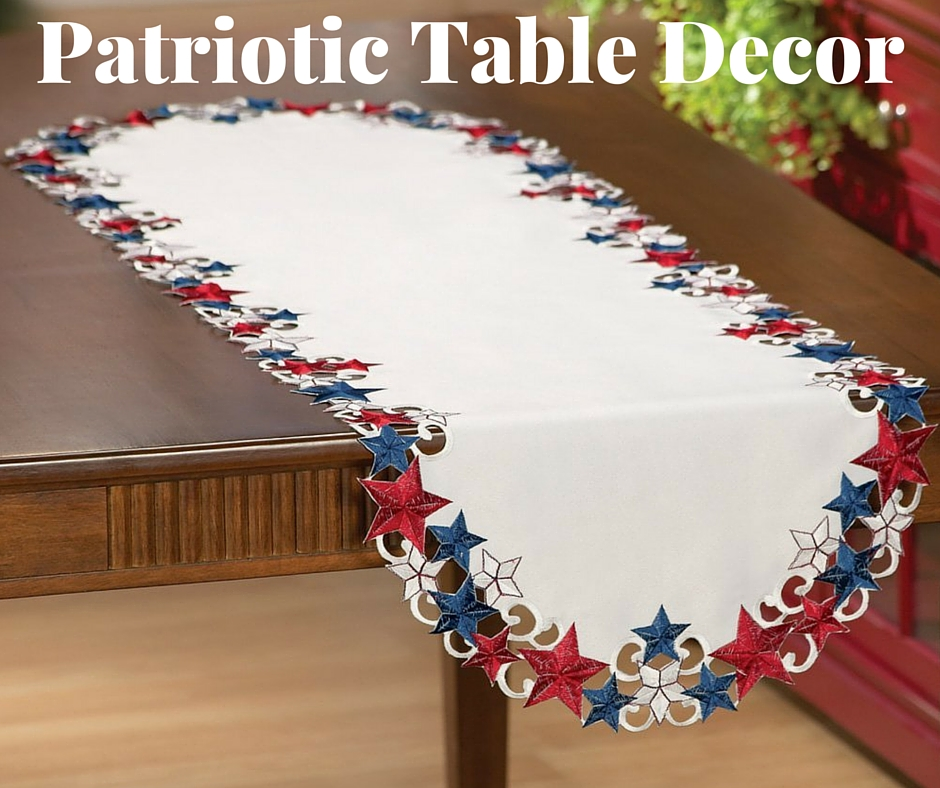 Red, White, Blue Patriotic Table Decor