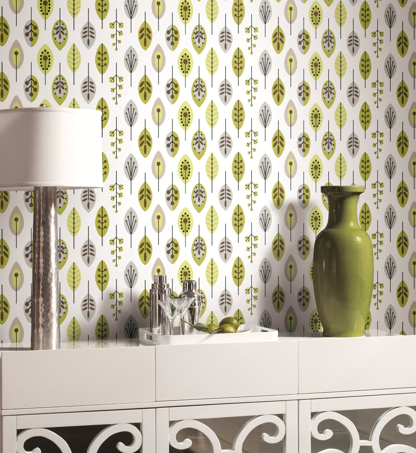 Using Wallpaper to Change a Room to Retro