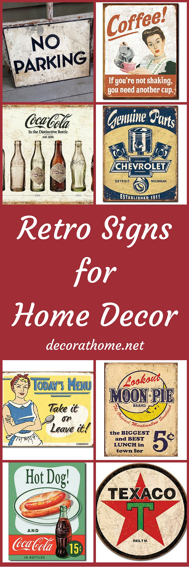 Retro Signs for Home Decor