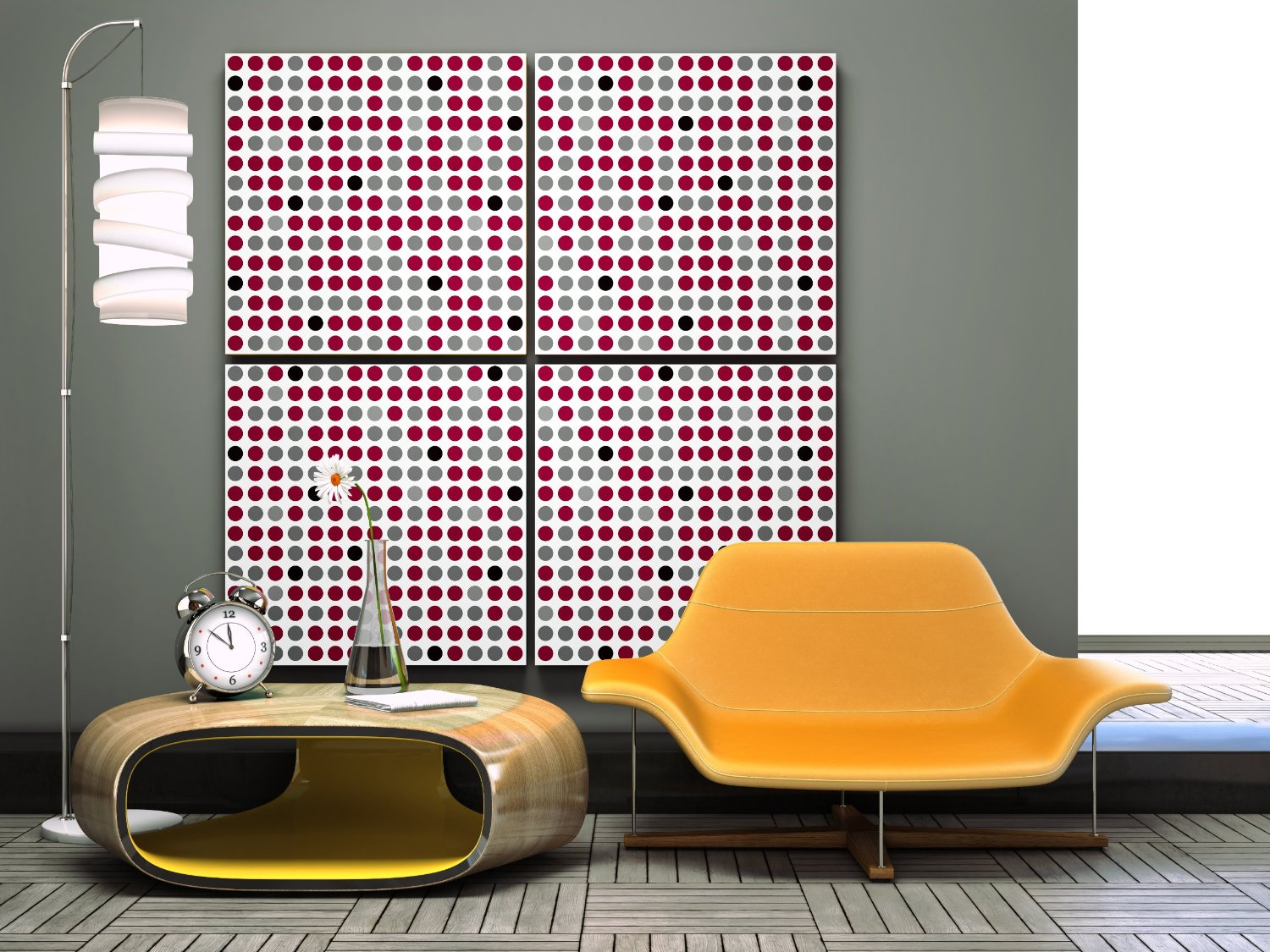 Using wallpaper to change a room to retro - Retro wallpaper for walls ...