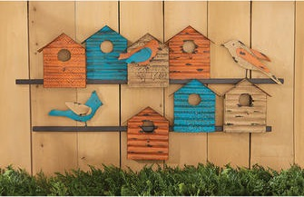 Bird Bungalows Wall Sculpture
