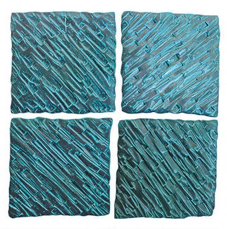 Nova Textured Ceramic Wall Tiles Set of Four