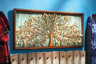 Spirit Tree of Life Metal Wall Sculpture
